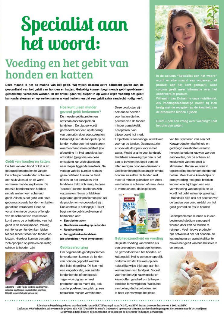 SAHW: Voeding en het gebit van honden en katten