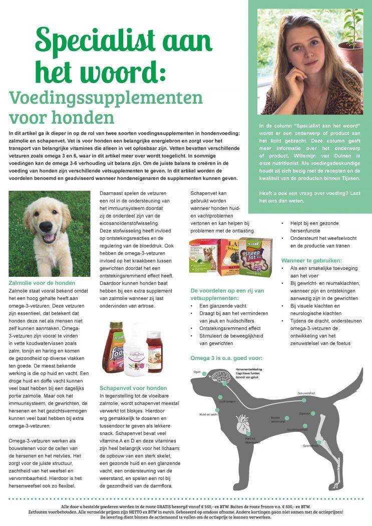 Voedingssupplementen voor honden