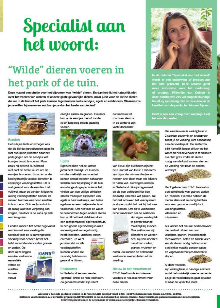 wilde dieren voeren in het park of de tuin